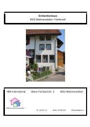 Einfamilienhaus 8932 Mettmenstetten / Herferswil ... - suter.in A. Suter