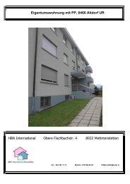 Eigentumswohnung mit PP, 6460 Altdorf UR HBN ... - suter.in A. Suter
