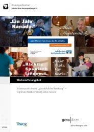ganzheitliche Beratung - geno kom Werbeagentur GmbH
