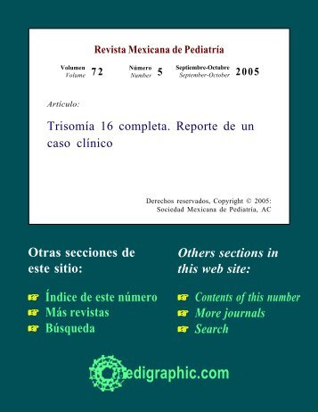 Trisomía 16 completa. Reporte de un caso clínico - edigraphic.com