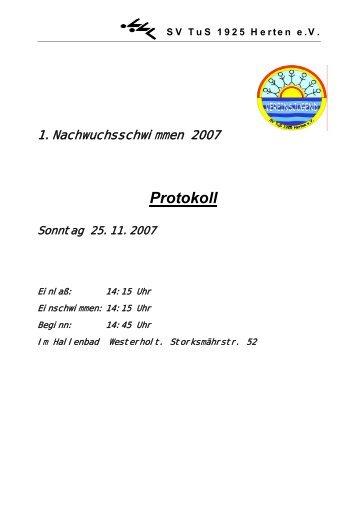 Protokoll - SV TuS 1925 Herten eV