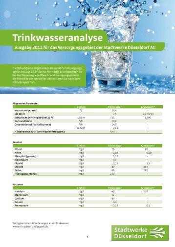 Trinkwasseranalyse - Stadtwerke Düsseldorf AG