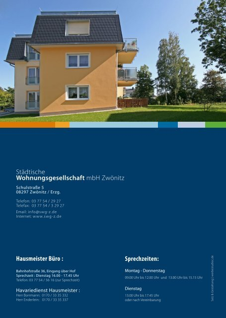 Mieterinformation 2011 - swg-z.de