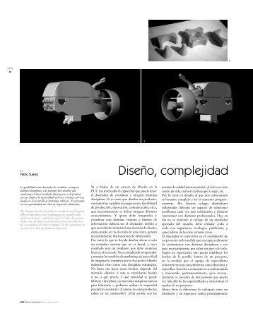 Diseño, complejidad - SciELO