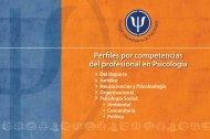 Perles por competencias del profesional en Psicología - Centro de ...