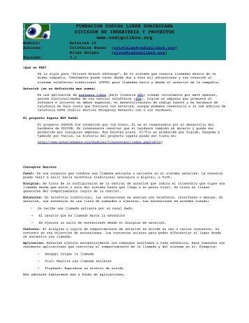 FUNDACION CODIGO LIBRE DOMINICANA DIVISION DE ...