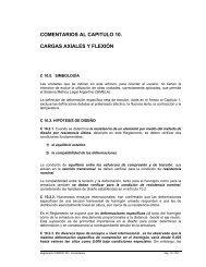 comentarios al capitulo 10. cargas axiales y flexión - Inti