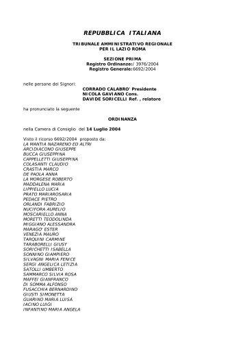UNEP sentenza TAR del Lazio sospensione ... - flp giustizia
