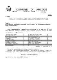 approvazione regolamento comunale ... - Comune di Arcole