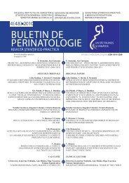 BUleTIN de peRINaTOlOgIe - Baza de date a revistelor ştiinţifice