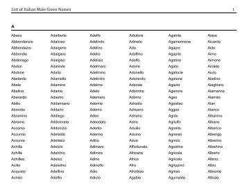 Male Italian Names 37