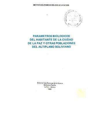 parametros biologicos del habitante de la ciudad de la paz y otras ...
