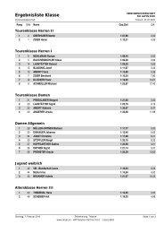 Ergebnisliste VM Ski Alpin 2010 - SV Tristach