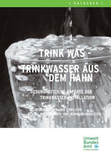 Trinkwasser aus dem Hahn