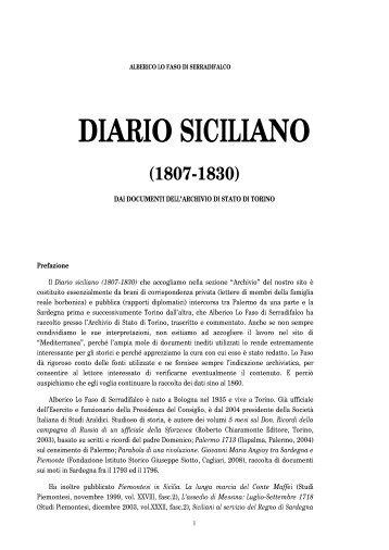 Diario siciliano (1807-1830) - Mediterranea ricerche storiche