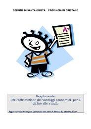regolamento attribuzione vantaggi economici diritto allo studio