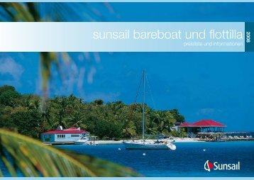 sunsail bareboat und flottilla