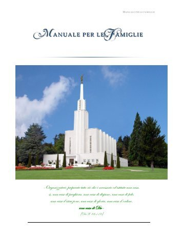 Manuale per le famiglie - Forever Families - Brigham Young University