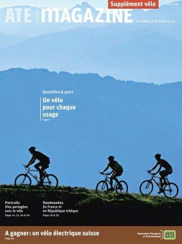 Supplément vélo - ATE Association Transports et Environnement