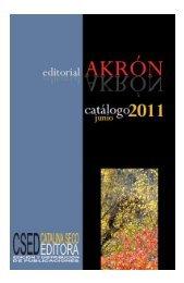 Catálogo - Editorial Akrón