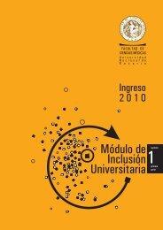 módulo de inclusión universitaria 1-1 2010 - Facultad de Ciencias ...