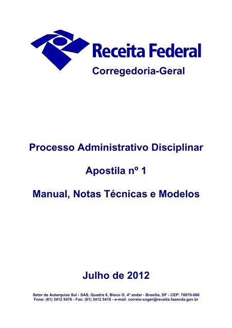 Apostila 1 Manual Notas Técnicas E Modelos Controladoria