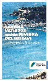 SAVONA VARAZZE and the RIVIERA DEL BEIGUA - Provincia di ...