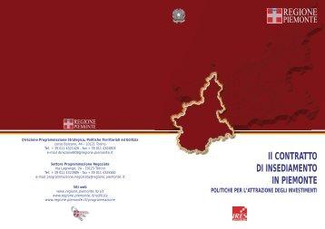 Il contratto di insediamento in Piemonte : politiche per l'attrazione ...