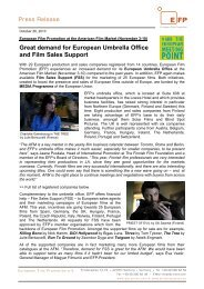 Great demand for European Umbrella Office and Film Sales Support