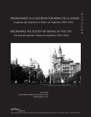 disciplinando a la sociedad por medio de la ciudad - Facultad de ...