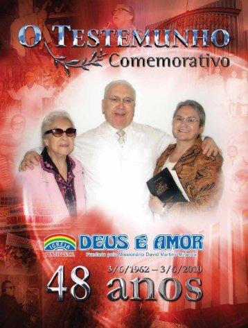Jornal o TesTemunho - Igreja Pentecostal Deus é Amor