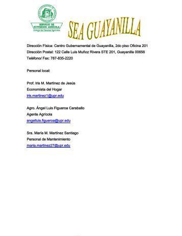 Centro Gubernamental de Guayanilla, 2do piso Oficina 201 ... - UPRM