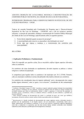 PARECER JURÍDICO - Acervo Digital da Unesp