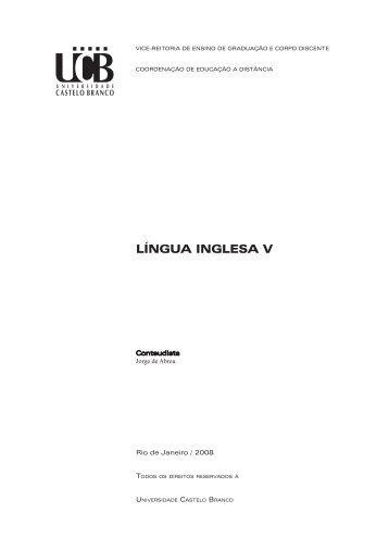 LÍNGUA INGLESA V - Universidade Castelo Branco