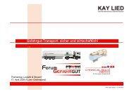 Gefahrgut-Transport sicher und wirtschaftlich (Kay Lied) - sybo