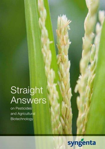 Straight Answers - Syngenta