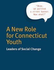 A New Role for Connecticut Youth