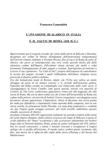 Alarico e il sacco di Roma - Ars Militaris