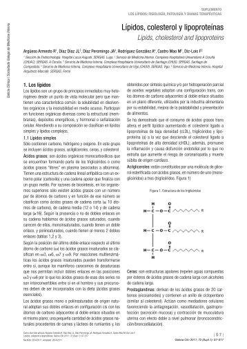 Lípidos, colesterol y lipoproteínas - Dialnet