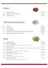 Suppen Kalte und Warme Vorspeisen Salate - SV Bayer Uerdingen ...