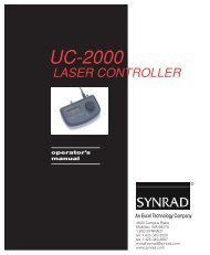 UC-2000 Universal Laser Controller Operator's ... - Synrad, Inc.