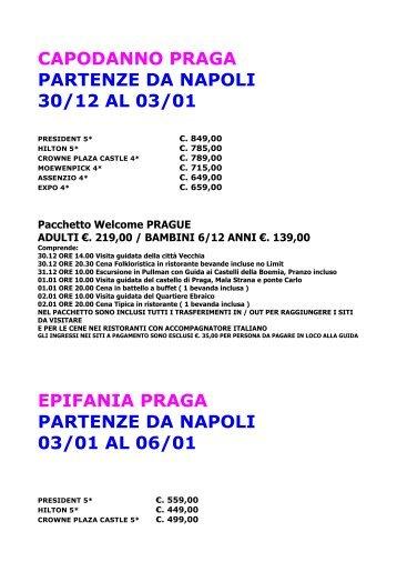 capodanno praga partenze da napoli 30/12 al 03/01 epifania praga ...