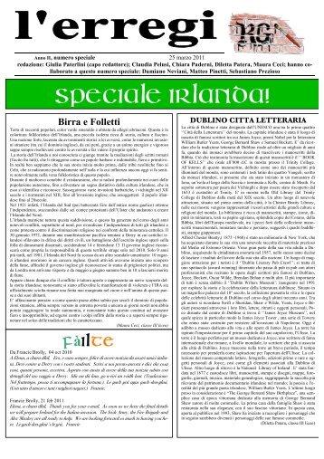 l'erregi special irlanda - Liceo Ginnasio Romano Guardini