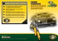 adjustable dampers - Supersport
