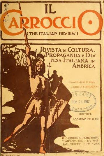 Il Carroccio. The Italian review, Rivista di coltura, propaganda e ...