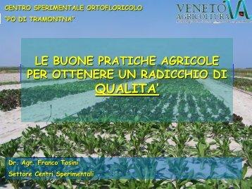 BUONE PRATICHE AGRICOLE a cura di Franco Tosini