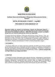 MINISTÉRIO DA EDUCAÇÃO – MEC - Inep