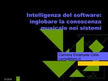 Intelligenza del software - Carmine Emanuele Cella