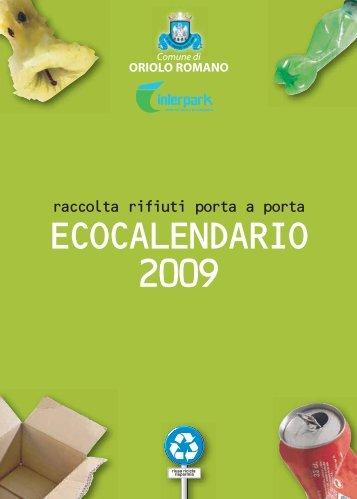 CALENDARIO:Layout 1 - Comune di Oriolo Romano