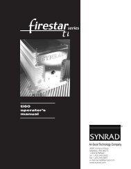 Firestar ti60 Operator's Manual, v1.1 - Synrad, Inc.